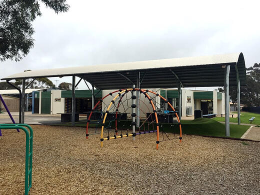 cola structure outdoor learning area Elizabeth Vale primary school city of Playford south australia weathersafe build design sa 4