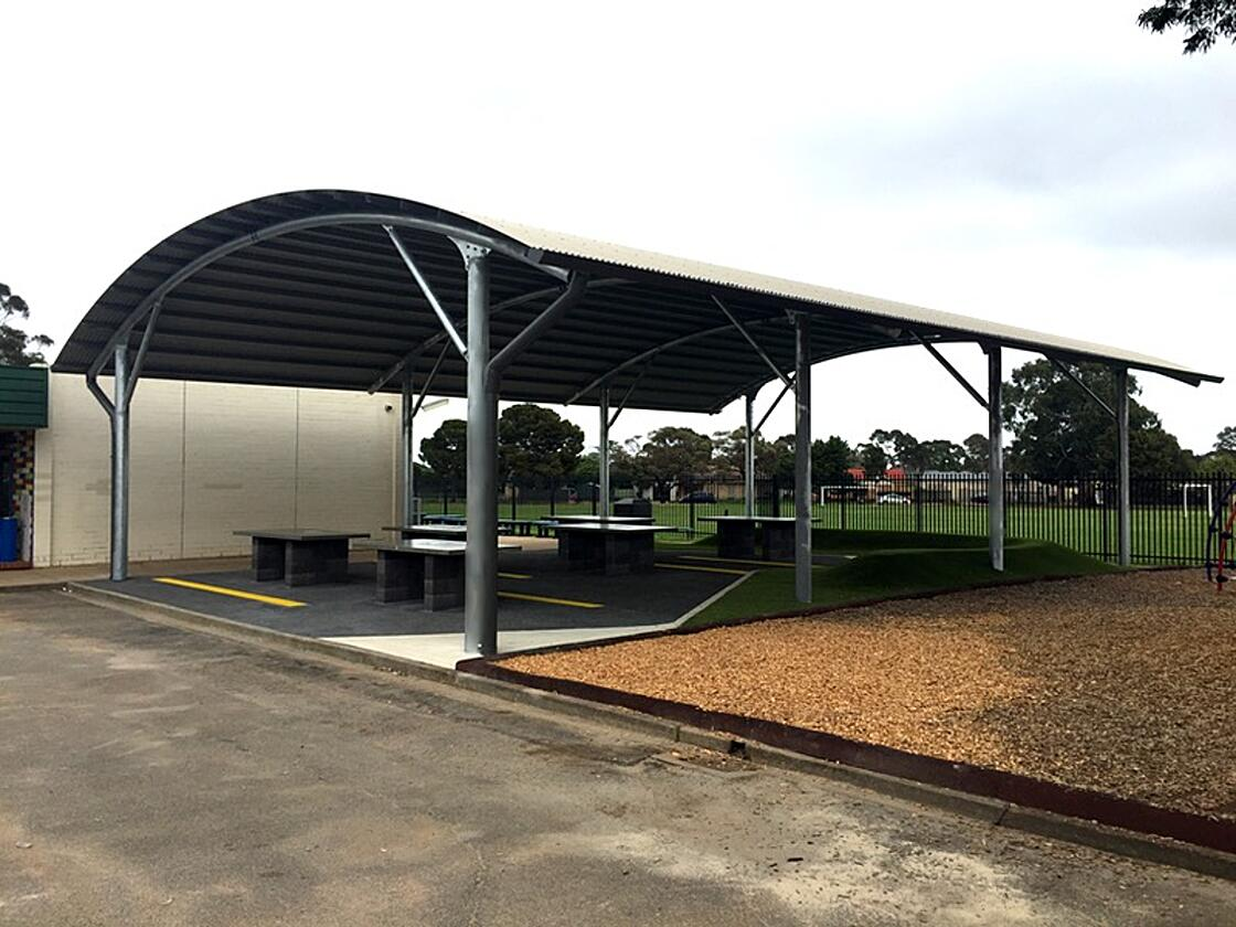 cola structure outdoor learning area Elizabeth Vale primary school city of Playford south australia weathersafe build design sa